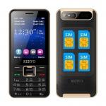 Телефон с 4 СИМ картами SERVO V8100